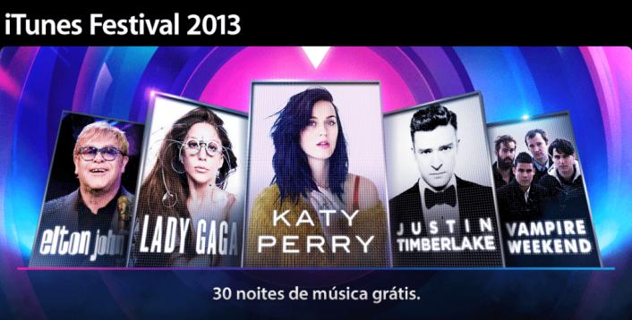 itunes - iTunes Festival 2013 traz Lady Gaga, Katy Perry e Elton John
