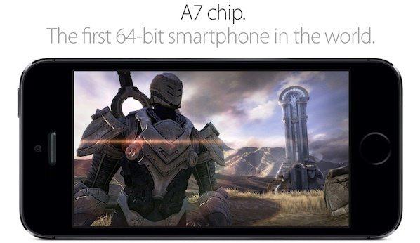 A7, o primeiro smartphone 64-bits. Créditos: Apple