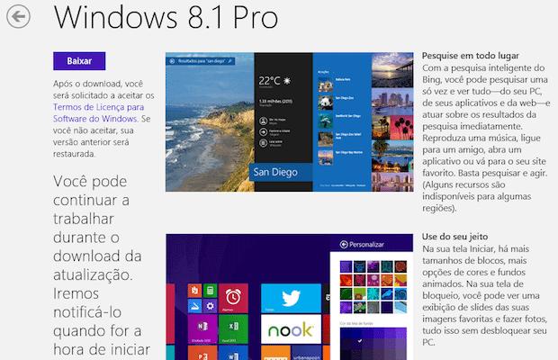 Atualização Windows 8.1 update 2 - Instale o Windows 8.1 através de um pendrive USB