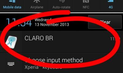 Como remover notificação da operadora