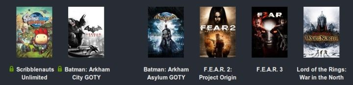 Humble Warner Bros Bundle