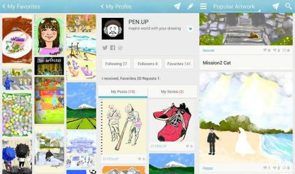 samsung pen up 720x426 - Samsung lança rede social Pen.Up