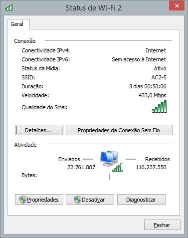 Exemplo WiFi ac - Review: Roteador D-Link DIR 868L com tecnologia WiFi ac