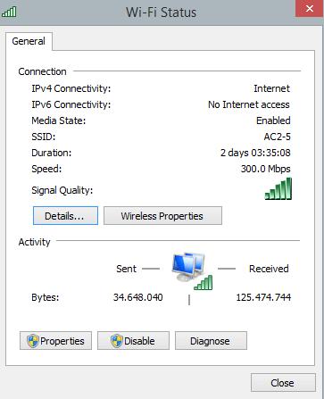 Exemplo WiFi 5GHz