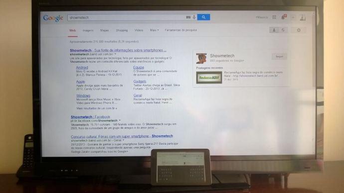 Transmissão de uma aba do Chrome para o Chromecast
