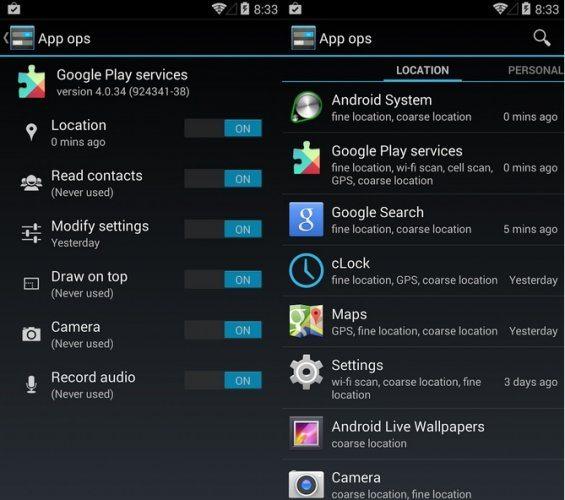 app op 565x500 - App Ops: Versão 4.4.2 remove recurso de gerenciamento de privacidade do Android