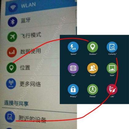 Galaxy S5 flat icons