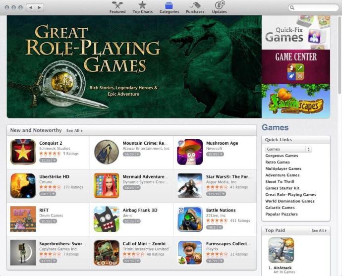Mac App Store Jogos