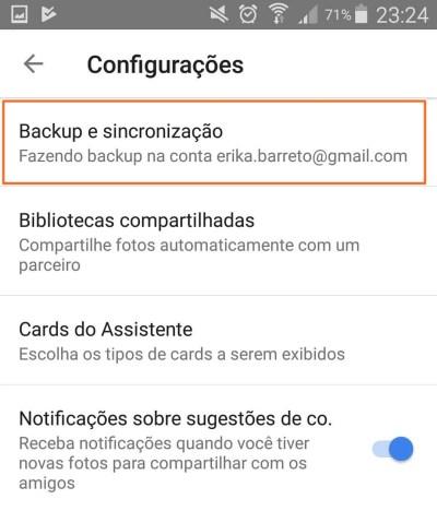 3 Backup e sincronização - Tutorial: Impedindo que o Google+ Auto Backup salve fotos do Whatsapp