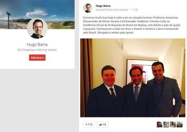 hugo barra xiaomi brasil - Hugo Barra quer trazer a Xiaomi para o Brasil