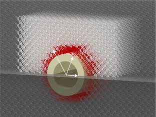 Nano material criado pelos pesquisadores do KIT e capaz de esconder objetos do tato