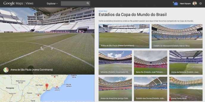 Conheça os estádios da Copa do Mundo no Streetview / reprodução Google
