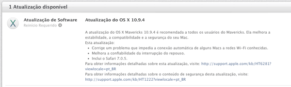 Mac OS X 10.9.4 - Apple publica o iOS 7.1.2 e OS X 10.9.4