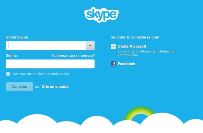 Skype precisa ser atualizado / reprodução