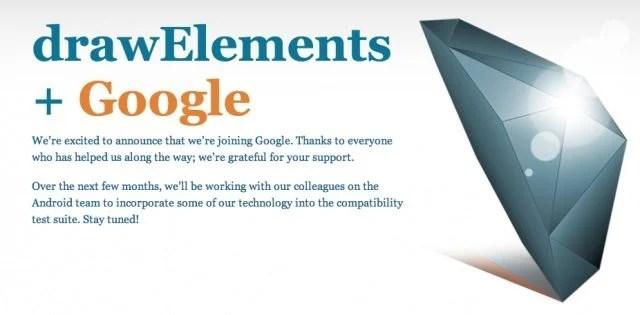 Google DrawElements - Google adquire a drawElements