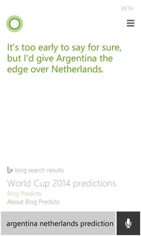 Previsao Bing para Argentina x Holanda - Bing acerta derrota do Brasil e prevê Alemanha e Argentina na final