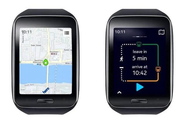 Gear S front black 2 - Nokia anuncia Here Maps para Samsung Galaxy e Gear S