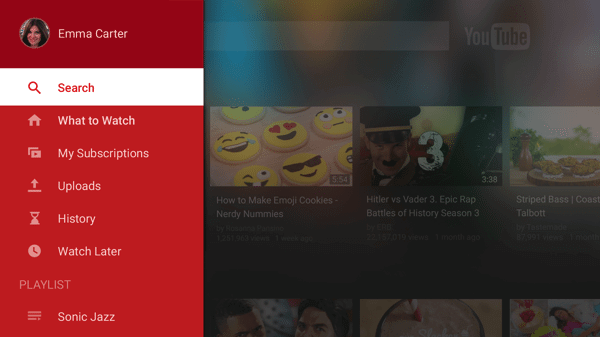 YouTube novo design 1 - YouTube revela novo design para TVs