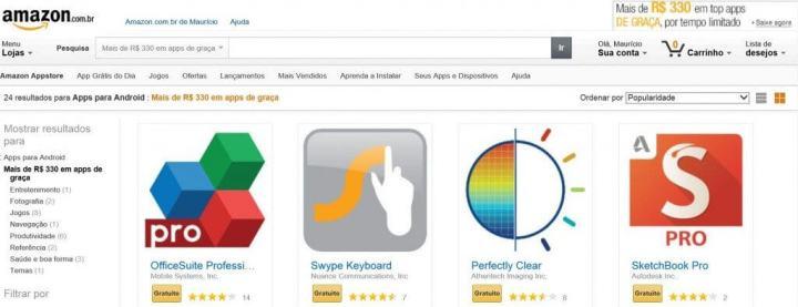 top apps gratuitos 720x277 - Baixe um aplicativo grátis por dia na Amazon App Store e muito mais