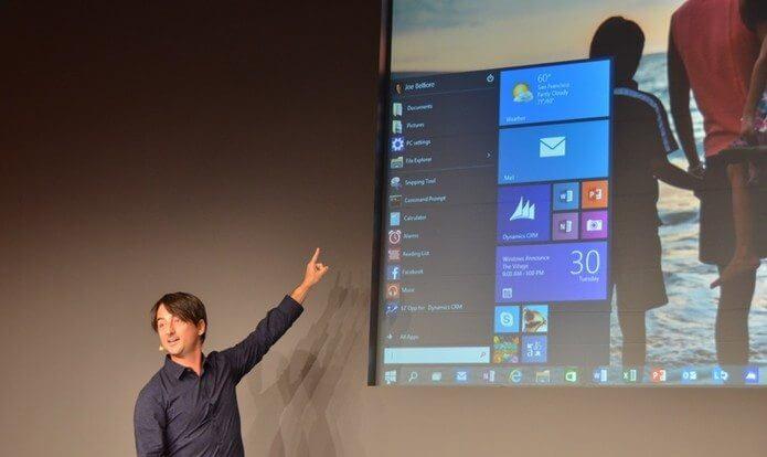vrg 1078 - Microsoft apresenta o Windows 10 para computadores, smartphones e tablets