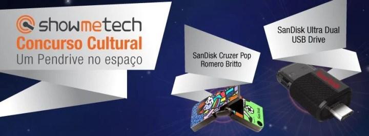 capa concurso cultural showmetech sandisk 720x265 - ConcursoCultural: Um Pendrive no espaço!