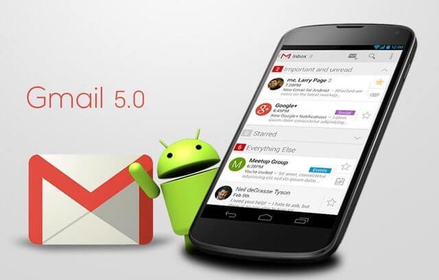 gamail 5 0 sapo - Gmail 5.0 para Android com novo design e mais recursos
