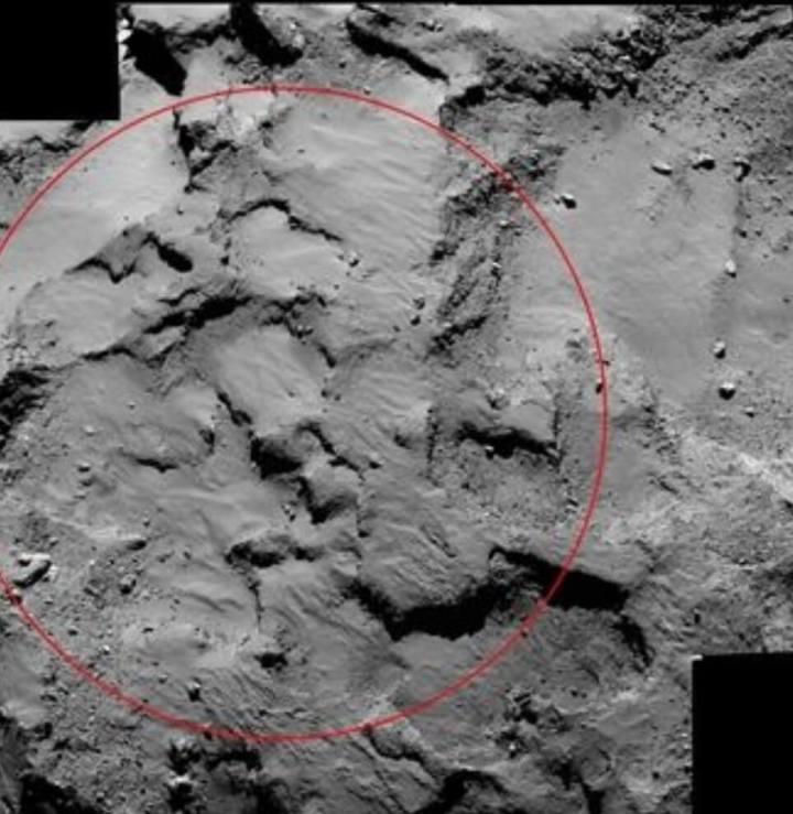 rosetta capturou imagem do ponto j handout nasaesa afp 720x739 - Sonda Rosetta tira foto do local de pouso em um cometa