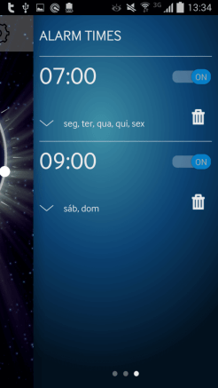 Samsung Power Sleep - despertador definido