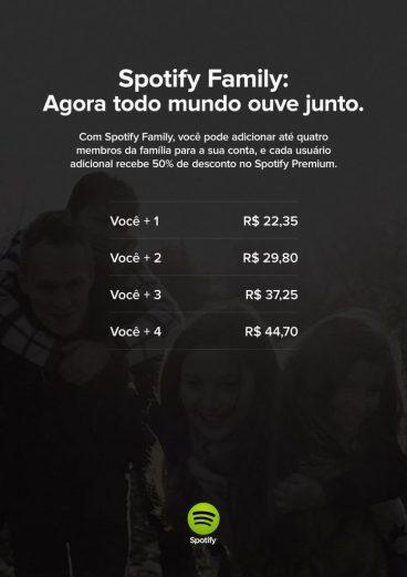 spotify familia 211x300 - Spotify lança plano família com desconto de 50%