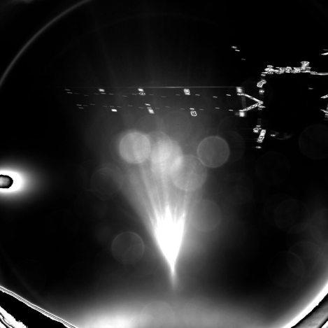 Momento em que o módulo Philae se desprende da sonda / ESA/Rosetta/Philae/CIVA