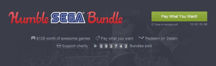 humble sega bundle 720x221 - Humble Sega Bundle: pague o quanto quiser por games de PC da produtora e ajude instituições de caridade