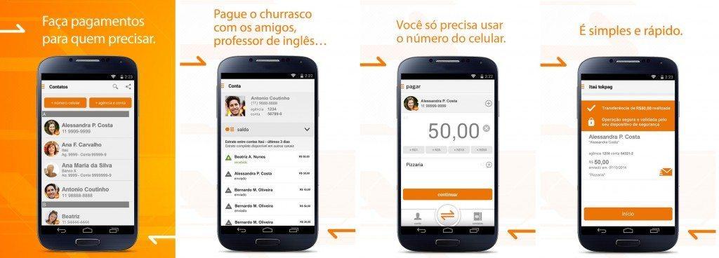 itau tokpag app transferencias - Faça pagamentos para quem precisar e até mesmo para quem possuir contas em qualquer banco com o aplicativo Itaú tokpag
