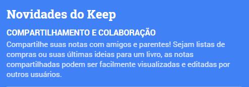 Google Keep - Compartilhamento e colaboração