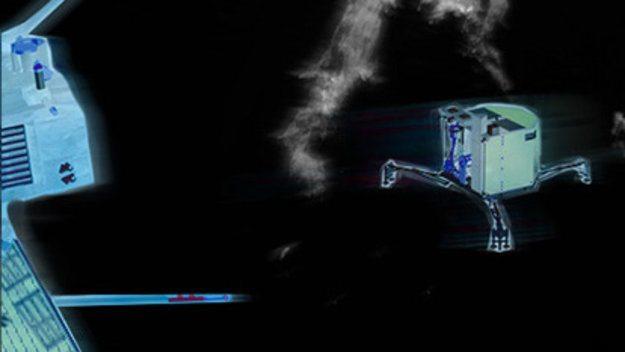 rosetta comet landing highlight large - Módulo espacial faz pouso inédito em cometa