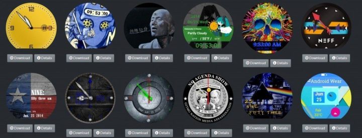 android wear watchfaces repository faces relogio moto 360 lg g watch r 720x275 - Tutorial: troca de faces no Android Wear (Moto 360, G Watch R, Gear Live e outros)