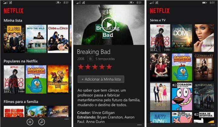 Netflix para Windows Phone