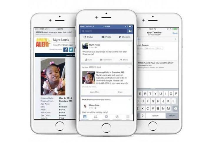 fb amberalert 720x486 - Facebook irá alertar sobre crianças desaparecidas