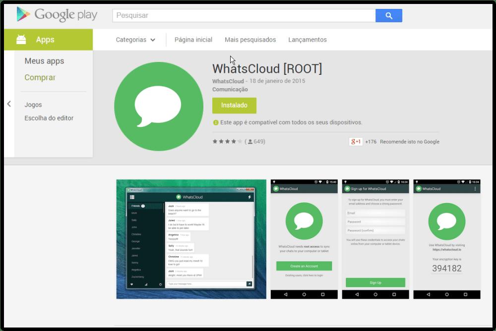 screen shot 01 19 15 at 07 39 pm - Tutorial: Como usar o WhatsApp no Computador com WhatsCloud