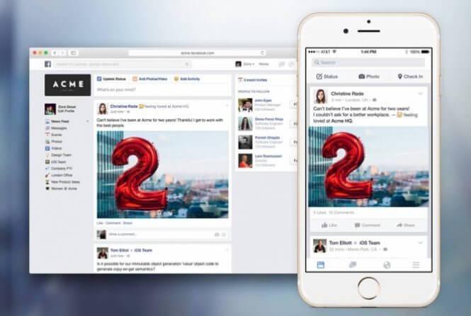 Facebook at Work inicia fase beta