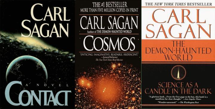 carl sagan livros 720x366 - 35 anos de Cosmos