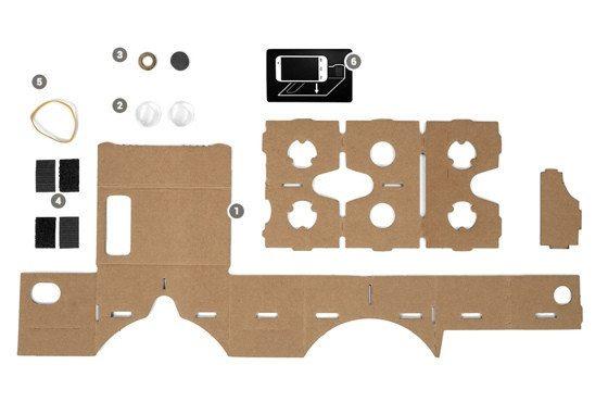 google cardboard blueprint - Review: Google CardBoard, o primo barato do óculos Rift