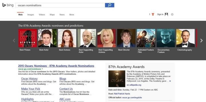 Bing Oscar