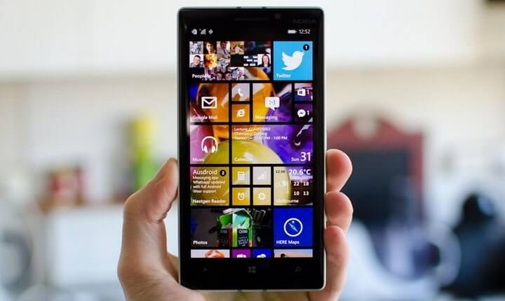 Captura de tela do Windows 10 para mobiles