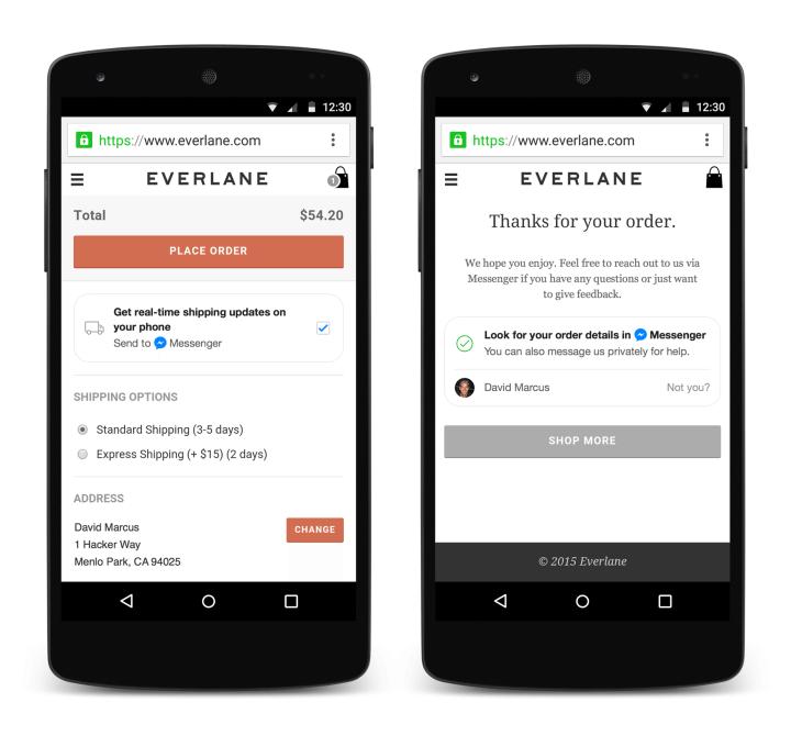 checkout 720x670 - F8 2015: Messenger do Facebook vira plataforma para apps e empresas