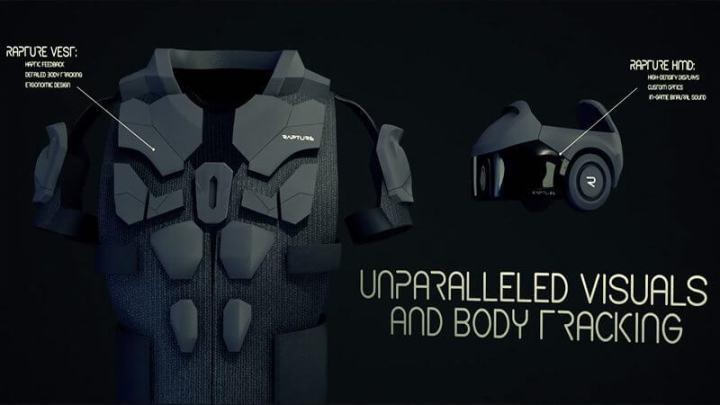 Capacete de realidade virtual e coletes que vibram com impactos, desenvolvidos pelo The Void.