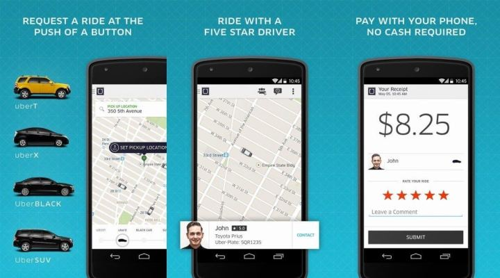O Uber está disponível para os sistemas Android, iOS e Windows Phone.