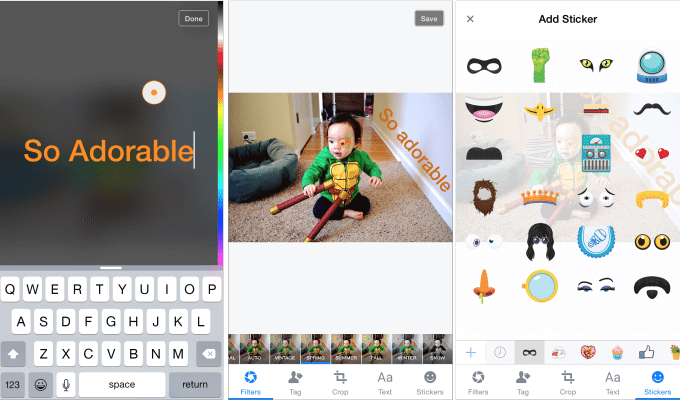 facebook photo stickers - Facebook para iOS ganha funções parecidas com as do Snapchat