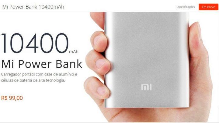 powerbank 720x407 - Smartband e Power bank são outras novidades trazidas pela Xiaomi para o Brasil