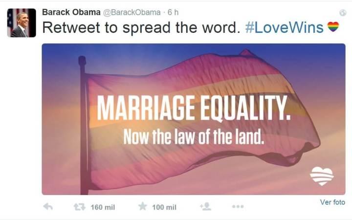 smt gaywin obamatwitter 720x450 - Facebook fica colorido após EUA aprovar o casamento entre pessoas do mesmo sexo
