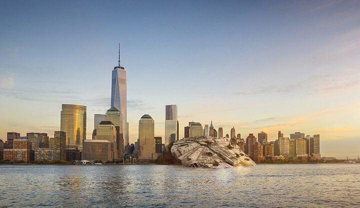 star wars nicolas amiard designboom 061 - Veja como seria a queda de naves de Star Wars nas principais cidades do mundo
